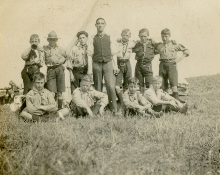 Scouts at Mundesley camp 1919a