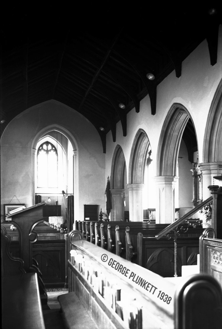 St Bartholomew's Heigham interior view west [2436] 1938-06-10